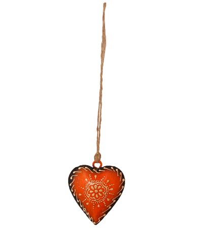 Handpainted Iron Heart Decoration