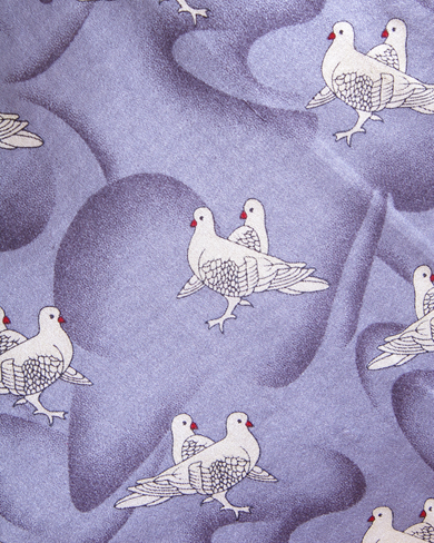 Silk Tie with Dove Design