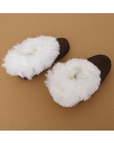Luxury Alpaca Fur Trimmed Slippers