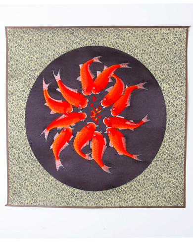 Silk Picture of Koi Carp