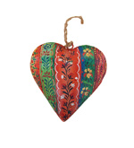 Handpainted Metal Hanging Heart