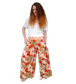 Recycled Printed Silk Wrap Trousers